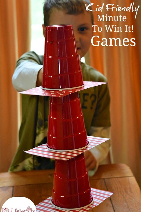 christmas games for kids cup stacking