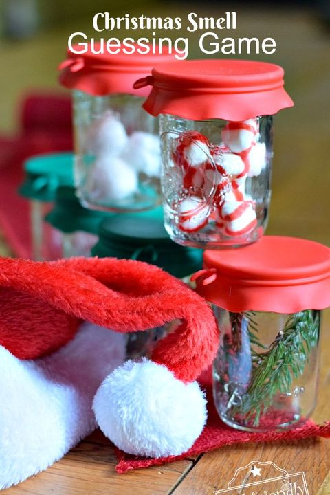 christmas games for kids scent guessing
