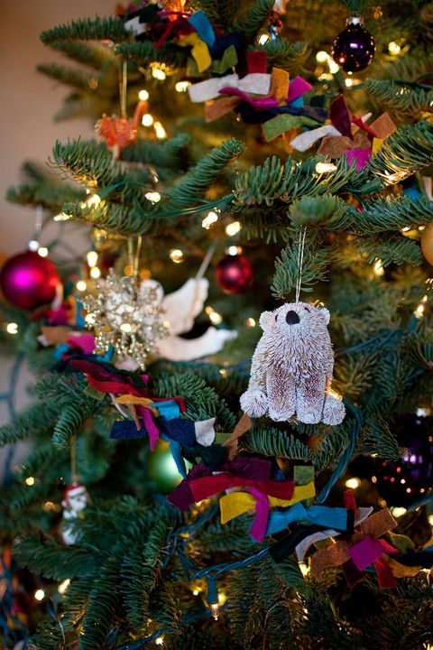 felt ribbon on a christmas tree