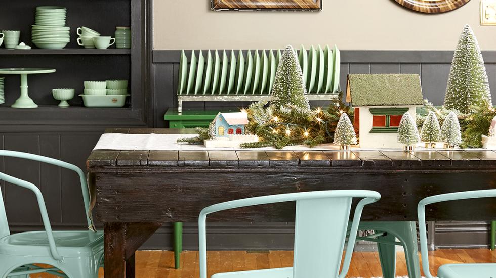 christmas garland table centerpiece