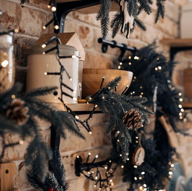 christmas garlands and lights