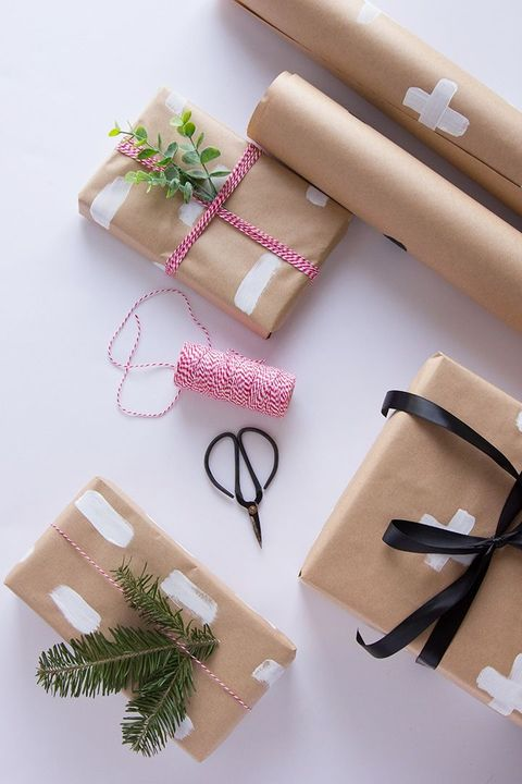 christmas gift wrapping ideas painted paper