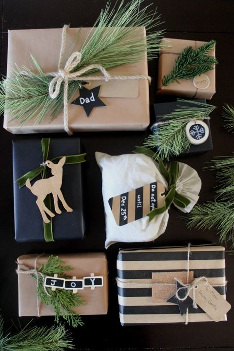 christmas gift wrapping ideas pine rustic