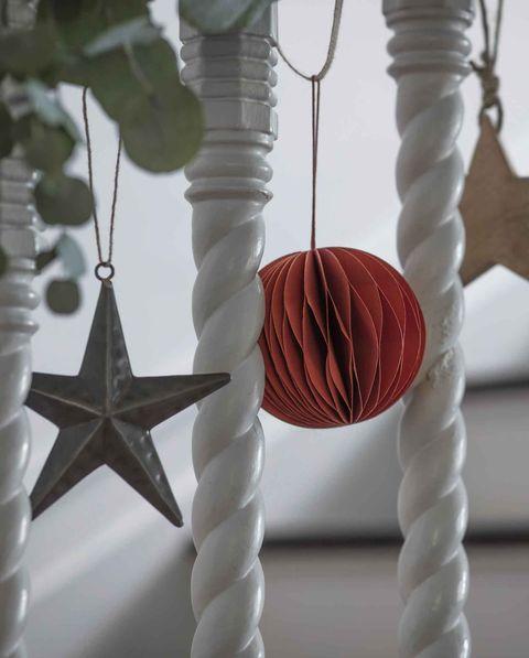 garden trading christmas hallway with farringdon star, maddox bauble and woodbridge star garden trading