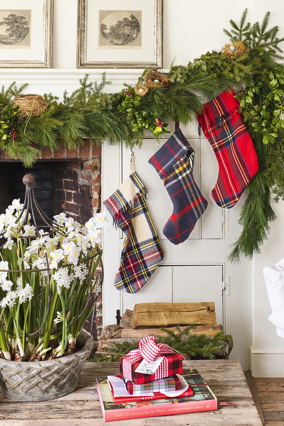 DIY Christmas Stockings Tartan Stockings