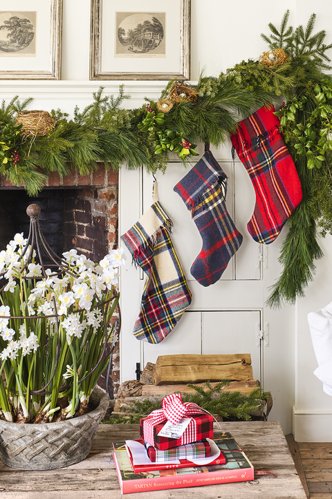 DIY Christmas Stockings Tartan Stockings