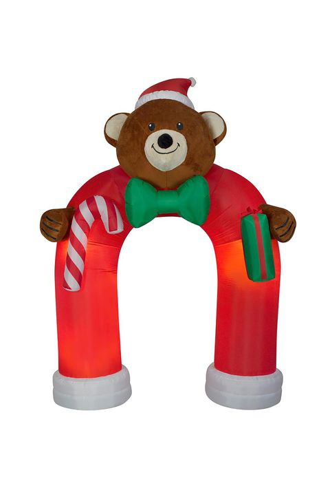 home depot inflatable airblown plush teddy bear - Home Depot Inflatable Christmas Decorations
