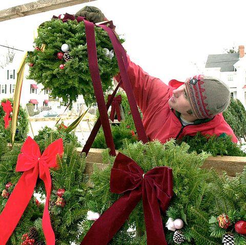christmas kissing ball tree stand