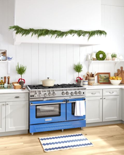 christmas kitchen decor garland