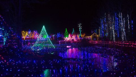 christmas light displays maine botanical gardens