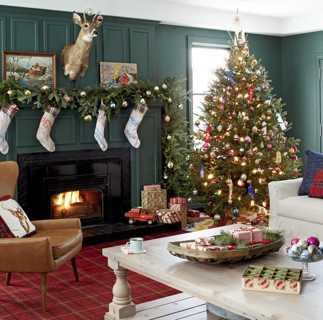 20 Christmas Living Room Decorating Ideas - How to Decorate ... on design ideas for living rooms, bookcases for living rooms, rugs for living rooms, colors for living rooms, lighting for living rooms, curtains for living rooms, paint for living rooms, decorating small space living room, window treatments for living rooms, painting ideas for living rooms, remodeling ideas for living rooms, tips for living rooms, bedroom ideas for small rooms, accessories for living rooms, decorating on a budget, trends for living rooms, wallpaper for living rooms, flooring for living rooms, diy for living rooms, printables for living rooms,