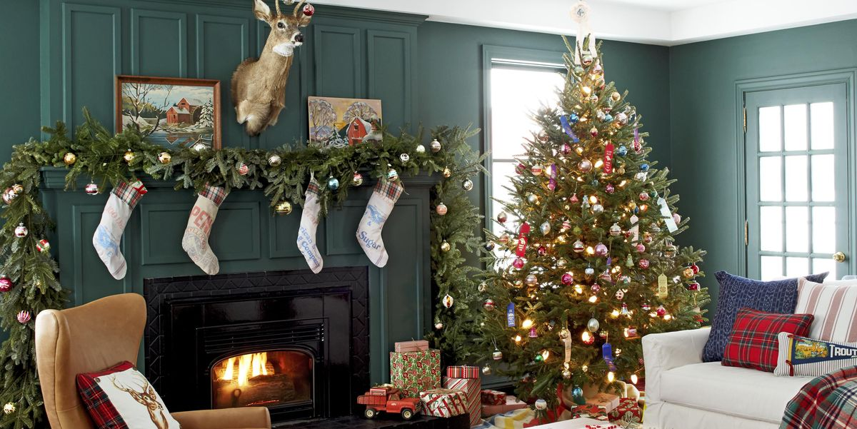 23 Christmas Living Room Decorating Ideas - How to Decorate ...