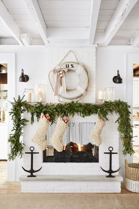 christmas living room decor nautical