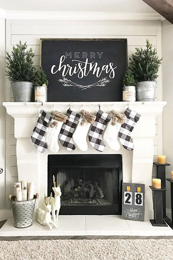 62 Mantel Decorations Ideas, Decorating Fireplace Mantel Farmhouse Style