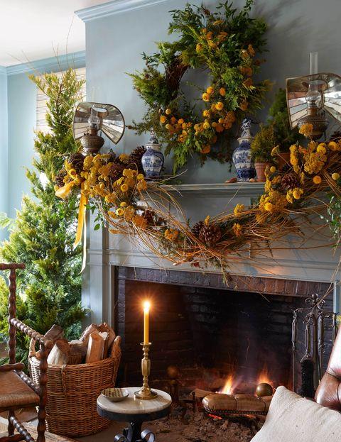 christmas mantel decorations lewis miller