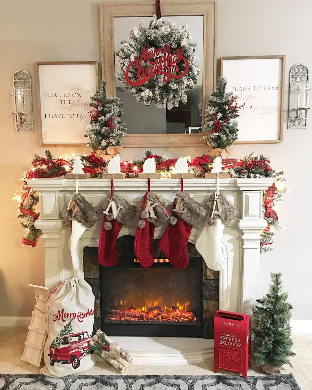 20 Festive Christmas Mantel Ideas   How to Style a Holiday Mantel