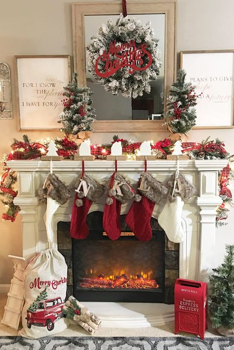 20 festive christmas mantel ideas how to style a - Modern christmas mantel ideas ...