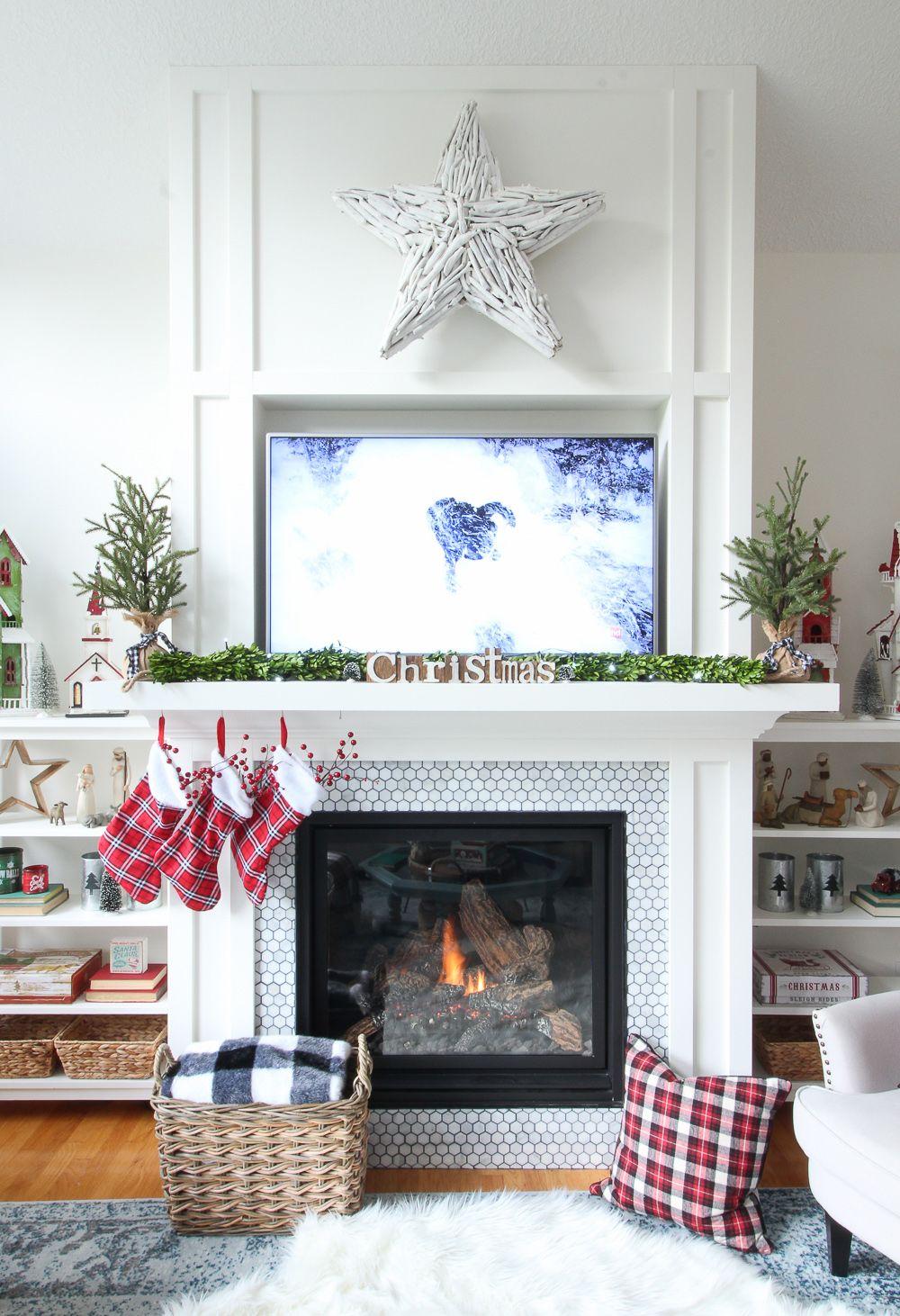 10 Festive Christmas Mantel Ideas   How to Style a Holiday Mantel