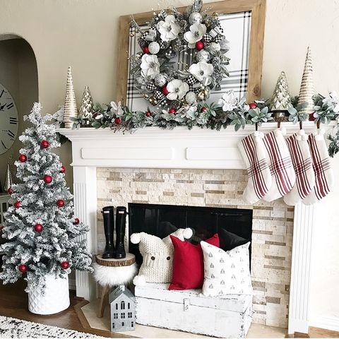 Christmas Mantel.Christmas Mantel Ideas How To Style A Holiday Mantel