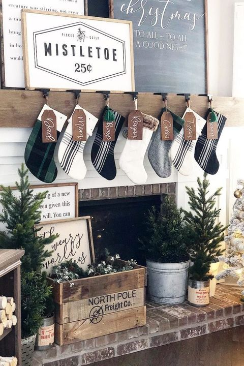 Christmas Mantel Ideas - Signs