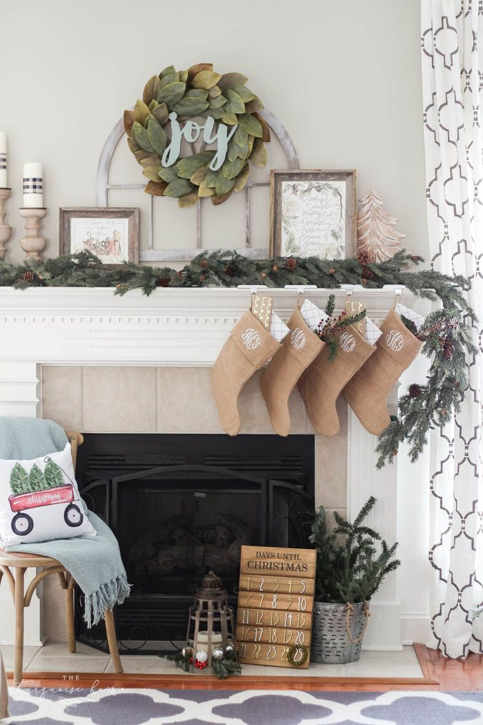 56 Christmas Mantel Decorations Ideas For Holiday Fireplace Mantel