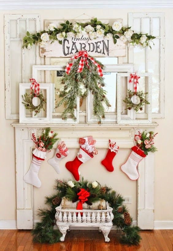 50 christmas mantel decorations ideas for holiday fireplace mantel decorating - How To Decorate A Fireplace Mantel For Christmas