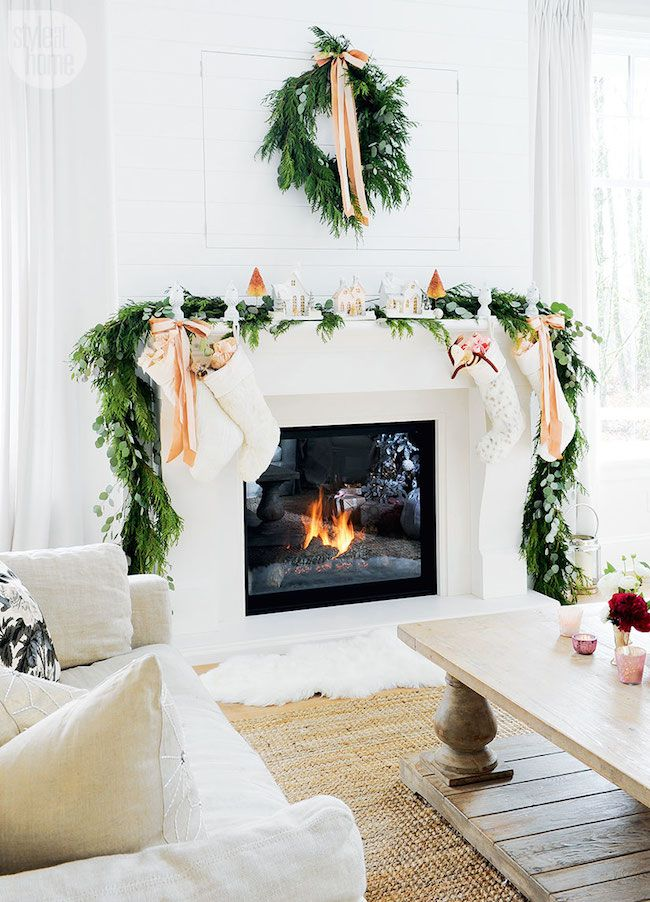 56 Christmas Mantel Decorations - Ideas for Holiday Fireplace Mantel  Decorating - 56 Christmas Mantel Decorations - Ideas For Holiday Fireplace Mantel