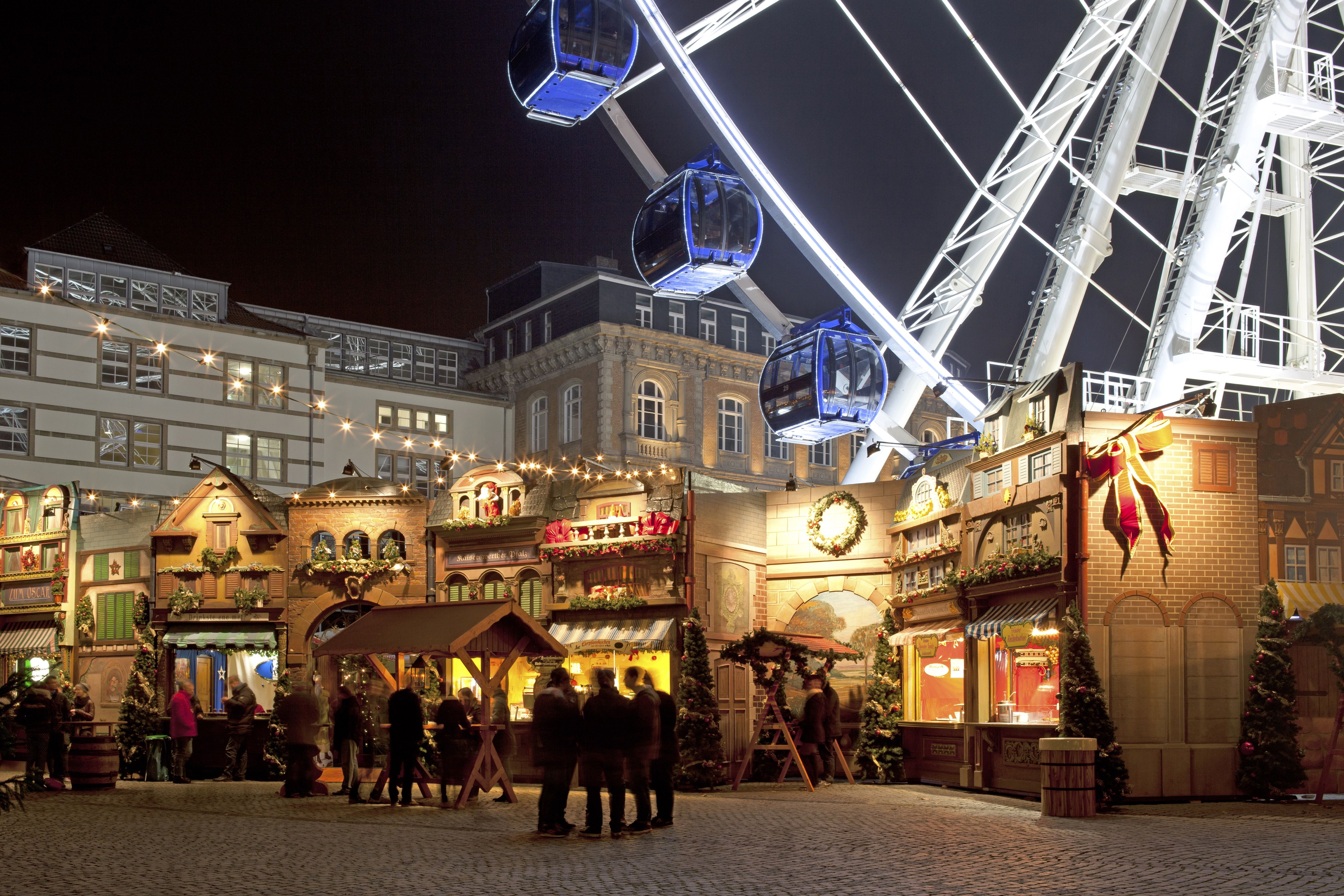 Christmas Market And Ferris Wheel In The Old Town Of Dusseldorf