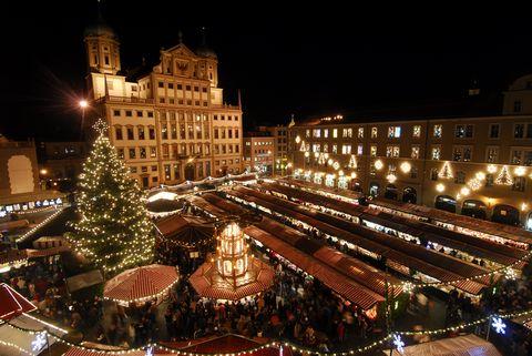 Christmas Market In Nuremberg, Germany On December 06, 2007.