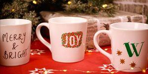 DIY gifts:how to make christmas mugs