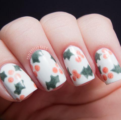30 christmas nail art design ideas 2020  easy holiday