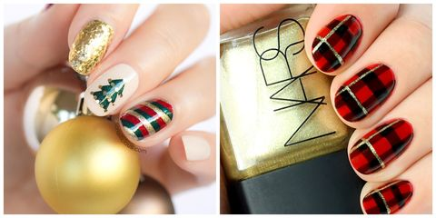 christmas nail art ideas - 22 Best Christmas Nail Art Design Ideas 2018 - Easy Holiday Nails