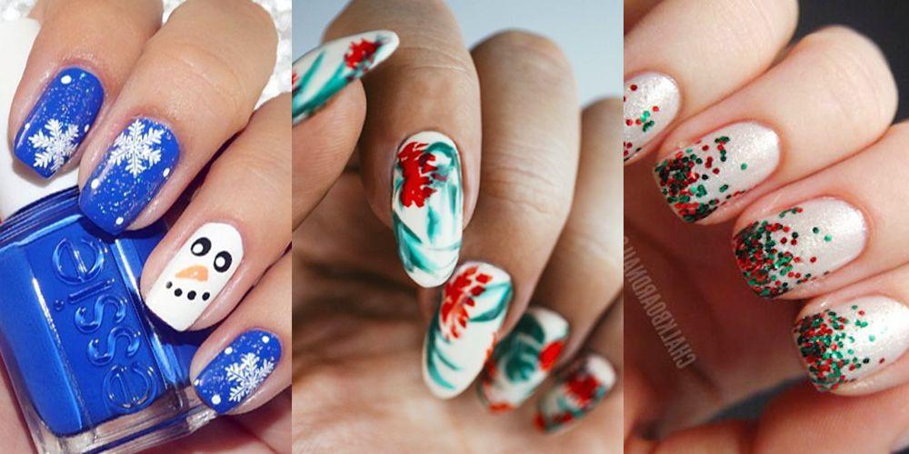 45 Festive Christmas Nail Art Ideas , Easy Designs for