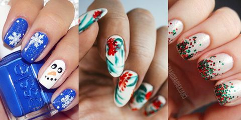 37846fad 40 Festive Christmas Nail Art Ideas - Easy Designs for Holiday Nails