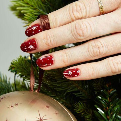 christmas nail art twinkle stars