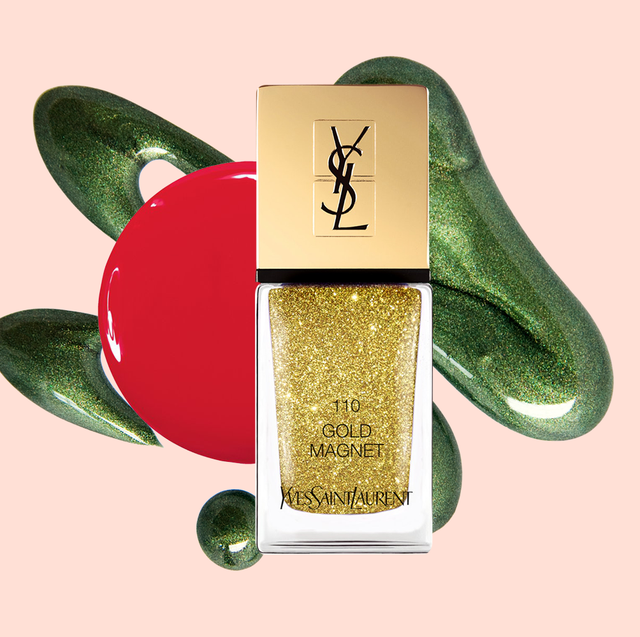 christmas nail colors   photo description gold nail polish bottle with red and green paint splatters
