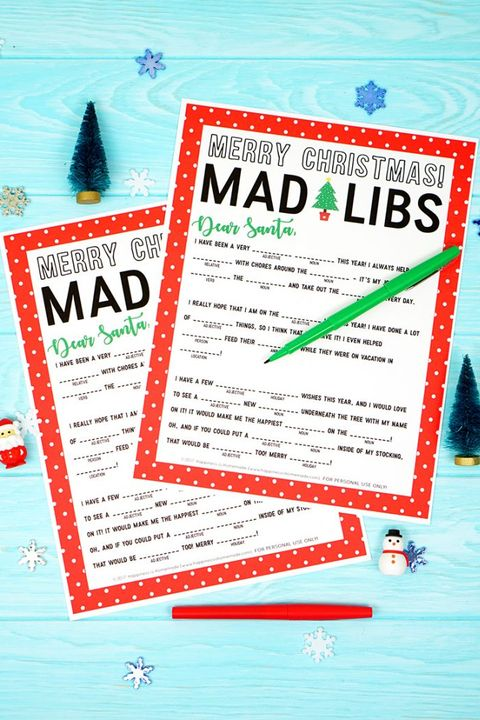christmas party games mad libs