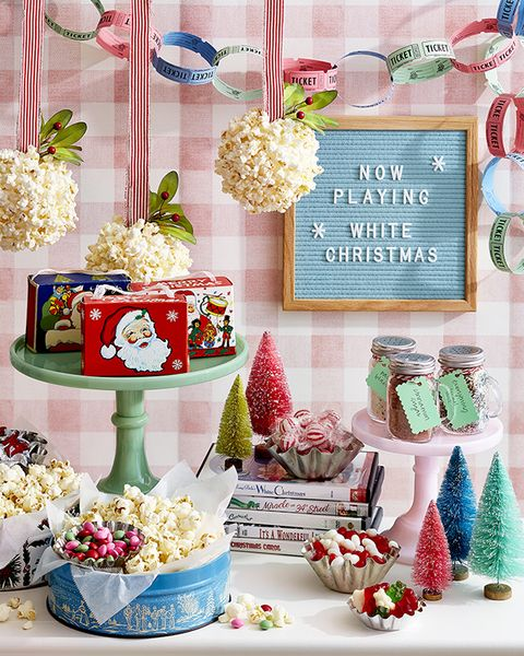 holiday movie watching christmas party theme holiday popcorn party
