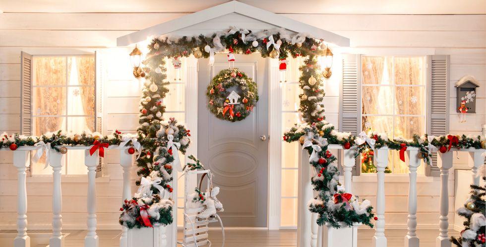 christmas porch decorations & 15 Christmas Porch Decorations - Outdoor Christmas Decor for the Porch