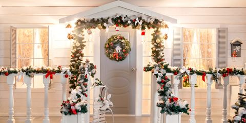 christmas porch decorations - Outdoor Porch Christmas Decorations