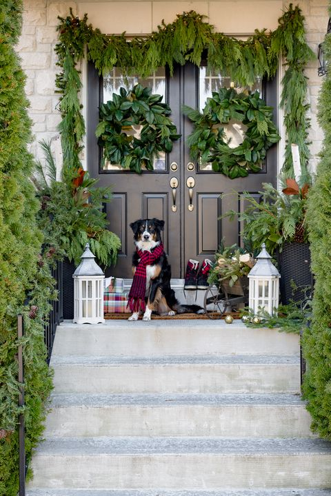 christmas porch green - Porch Decorating Ideas Christmas
