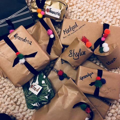 Christmas present wrapping ideas photo