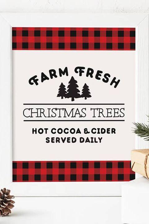 christmas printables tree farm