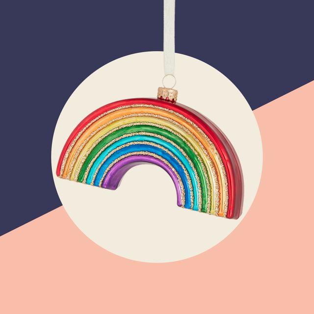 john lewis  partners pop art rainbow bauble