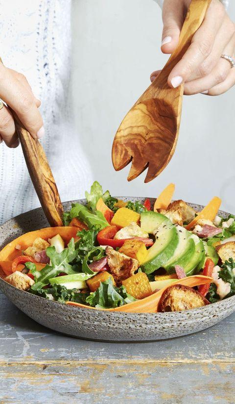 christmas salads - arugula kale harvest salad