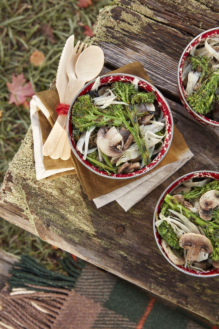 christmas side dishes salad mushrooms