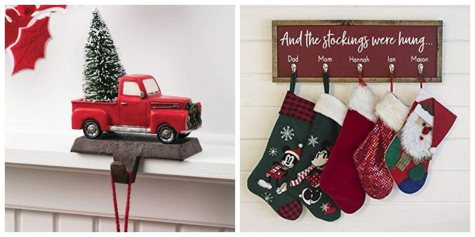 15 christmas stocking holders for mantel best stocking holder ideas