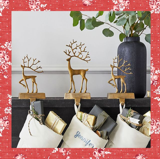 christmas stocking holders from pottery barn and terrain