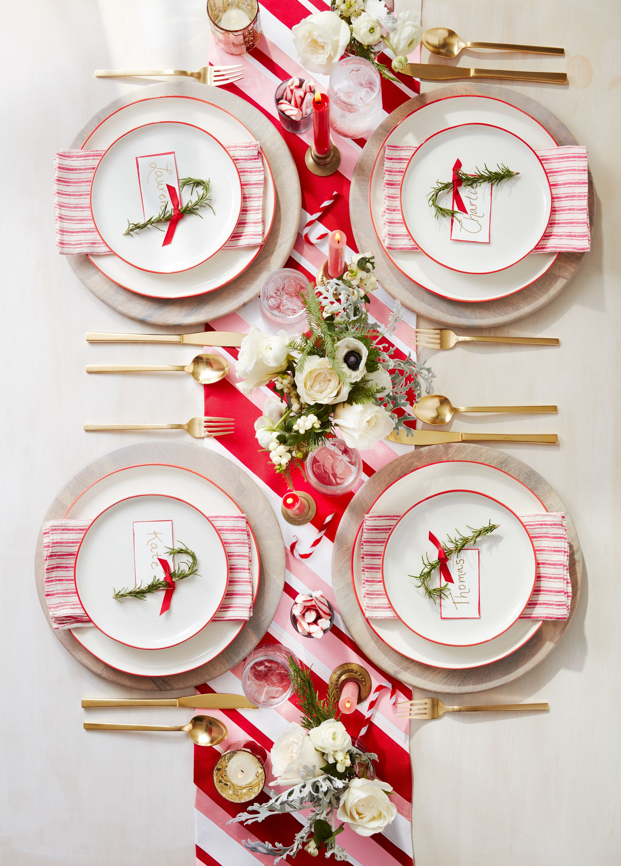 40 Christmas Table Decorations Place Settings Holiday Tablescapes