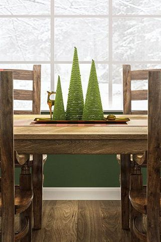 christmas-table-decorations-diy-evergreen-trees